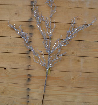 "34"" Glitter Willow Twig Spray"