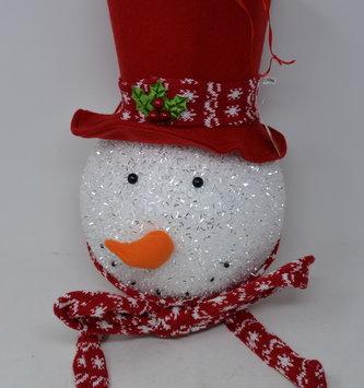 Large Sparkle Snowman Head Tree Topper