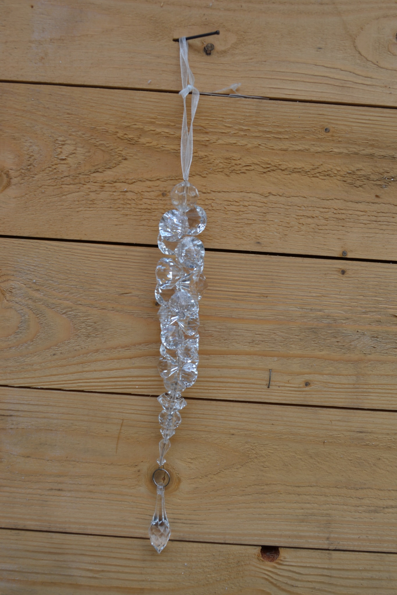 Beaded Prism Icicle Drop Ornament