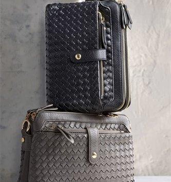 Woven Zipper Handbag