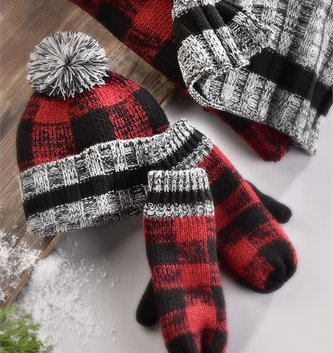 3-Piece Buffalo Plaid Gift Set