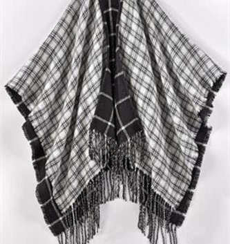 Reversible Black and White Wrap