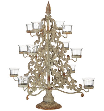 Christmas Tree Votive Candelabra