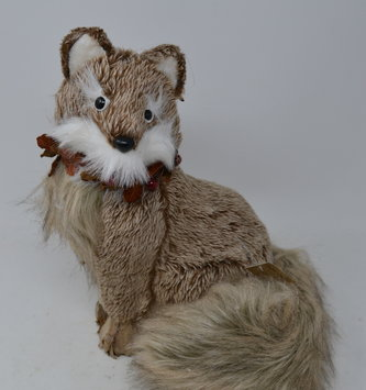 Sitting Woodland Fur Fox
