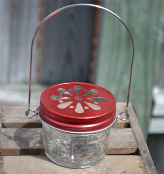 Jelly Jar Hummingbird Feeder