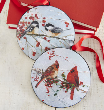 Shimmer Bird Disk Ornament (2 Styles)