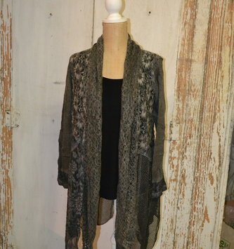Vintage Tiered Lace Cardigan