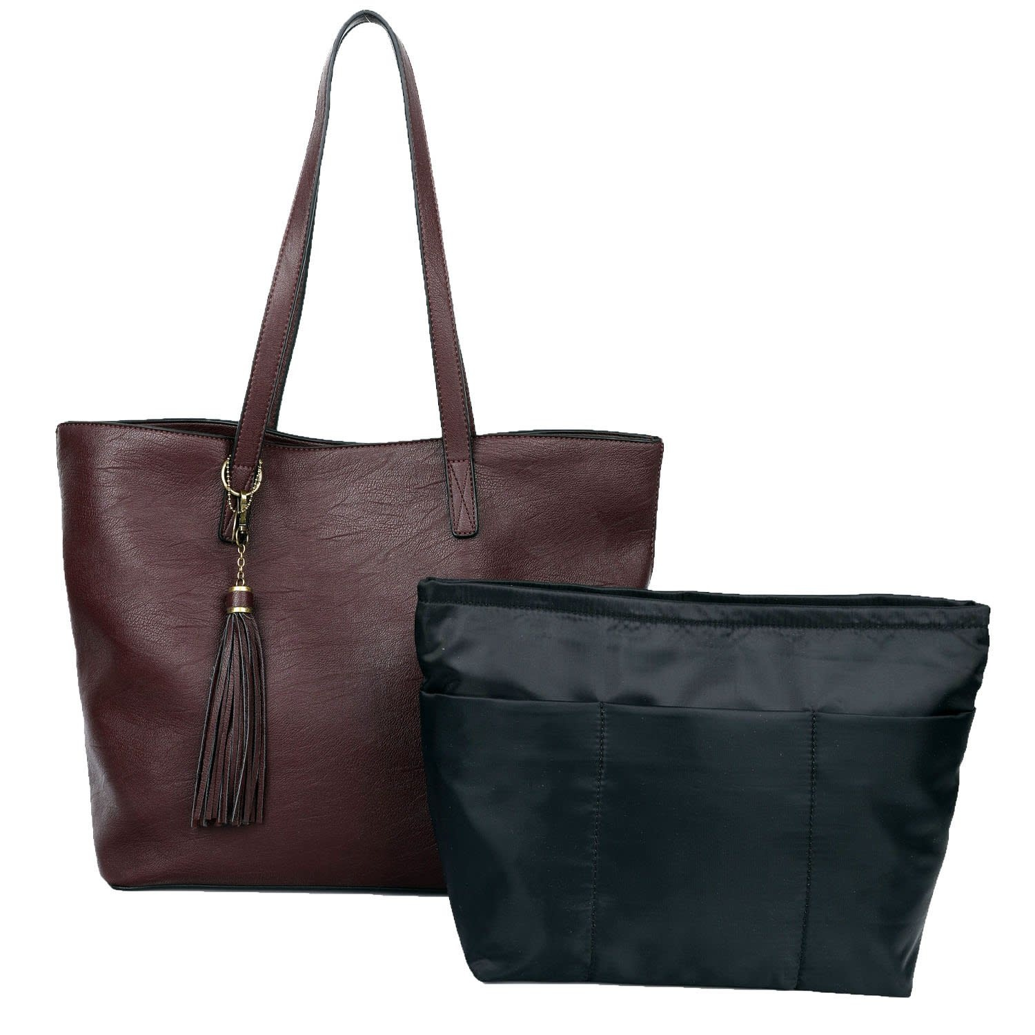 2-in-1 Large Lucia Tassel Bag