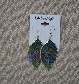 Reversible Dangle Multi-Leaf Earrings