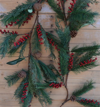 6-ft Soft Cedar Pineberry Garland