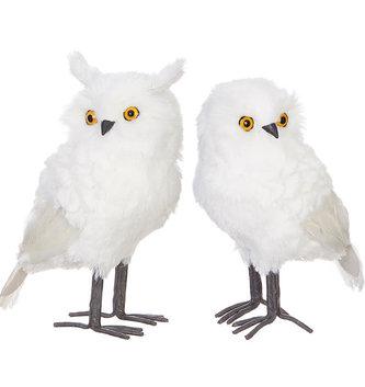 """11"""" White Snowy Owl (2-Styles)"""