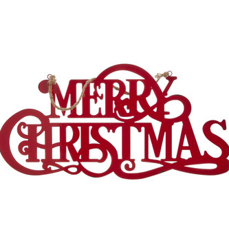 Metal Merry Christmas Hanging Sign