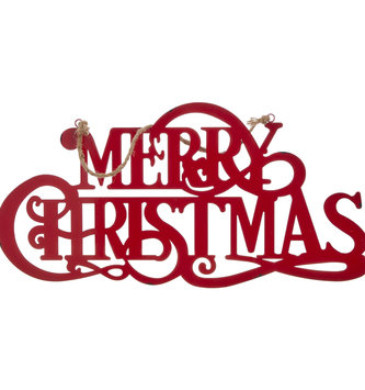 Merry Christmas Metal Hanging Sign