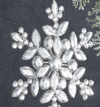 Jeweled Sparkle Snowflake Ornament