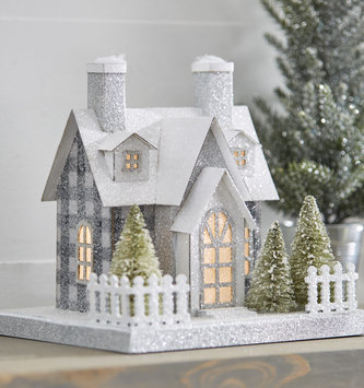 Light Up Shimmer Christmas House