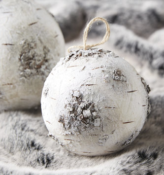Birch Ball Ornament
