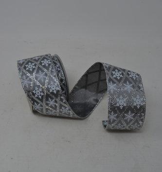 Glitter Diamond Snowflake Ribbon