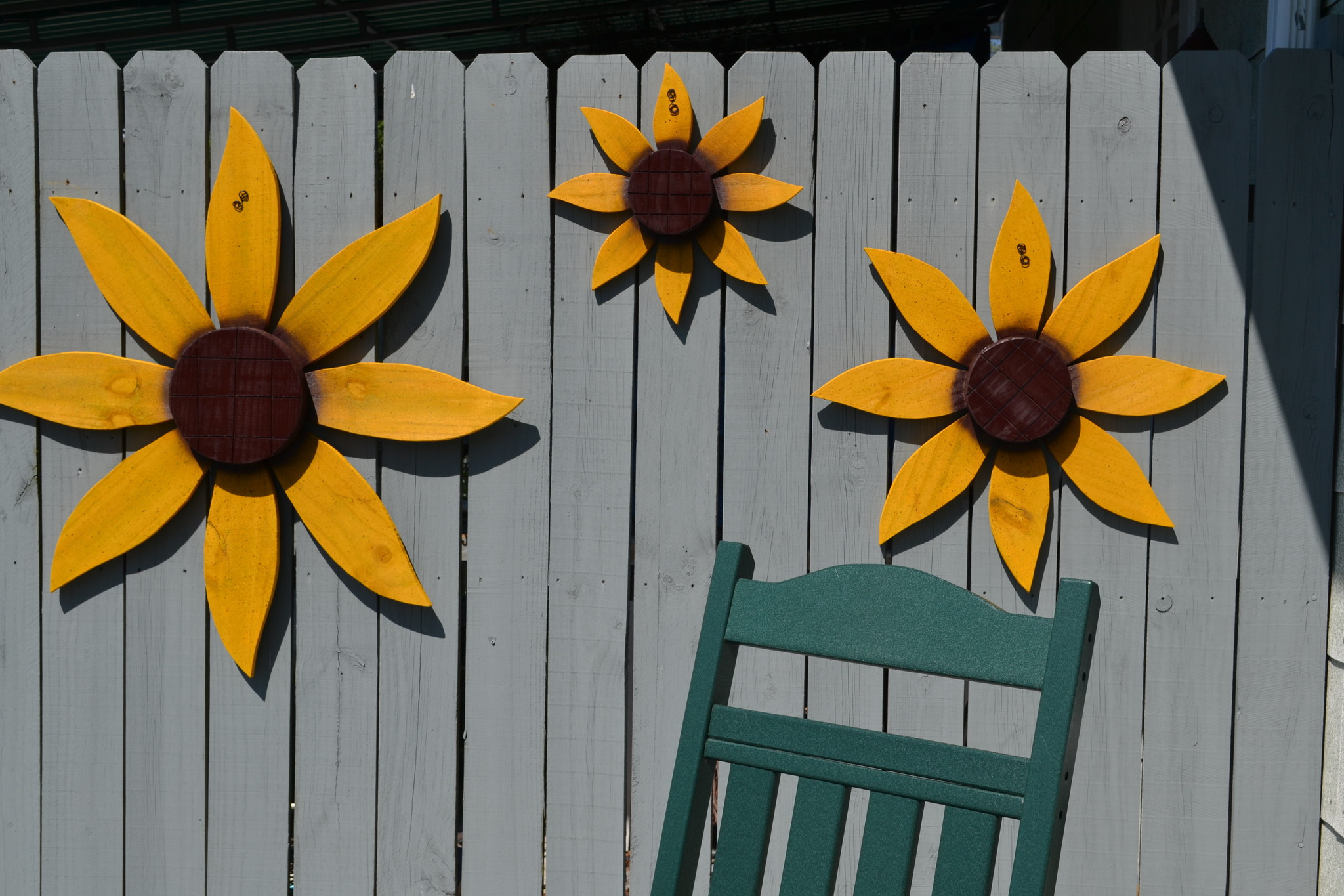 Painted Wooden Sunflower