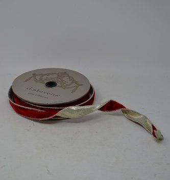 Red Velvet and Platinum Back Ribbon