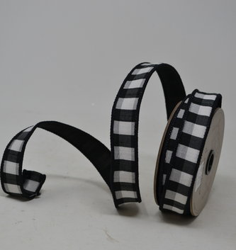 Skinny Gingham Wired Ribbon