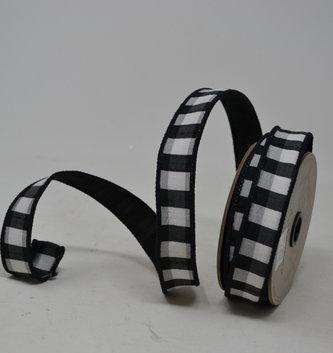 Skinny Gingham Wired Ribbon
