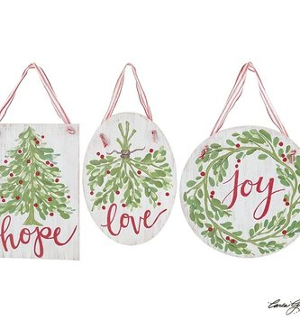 Christmas Hanging Inspirational Sign (3 Styles)