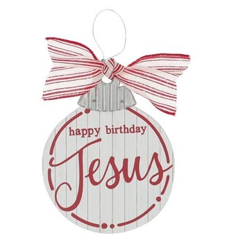 Happy Birthday Jesus Wooden Ornament
