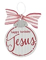 Happy Birthday Jesus Wooden Ornament
