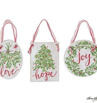 Christmas Hanging Inspirational Sign Ornament (3-Styles)