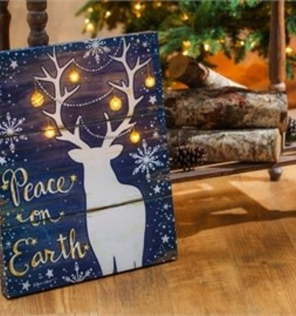 Peace on Earth LED Canvas