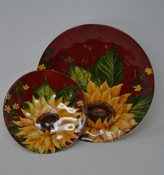 Sunflower Candle Saucer