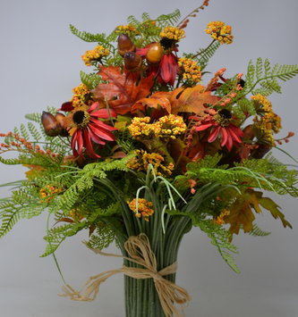 Red and Golden Grass Vase Custom