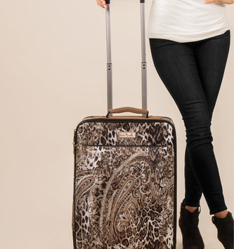 Simply Noelle Paisley Animal Print Rolling Luggage