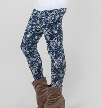 Simply Noelle Paisley Printed Leggings (2 Colors)