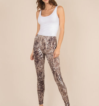 Simply Noelle Leopard Mixed Leggings