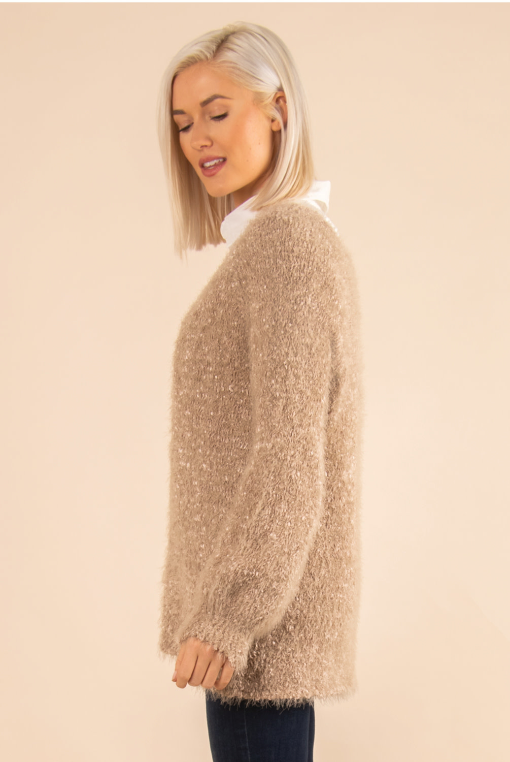 Simply Noelle Soft Angel Hair Knit Sweater