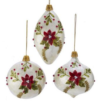 Capiz Poinsettia Ornament (3 Styles)