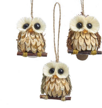 Mini Sisal Owl Ornament (3 Styles)