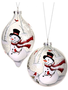 Frosted Snowman & Friends Ornament (2-Styles)