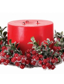 Iced Berry Boxwood Candle Ring (2-Colors)