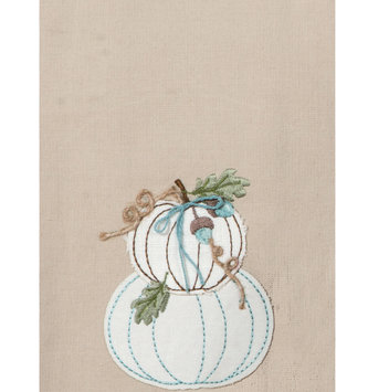 Embroidered Double Pumpkin Towel