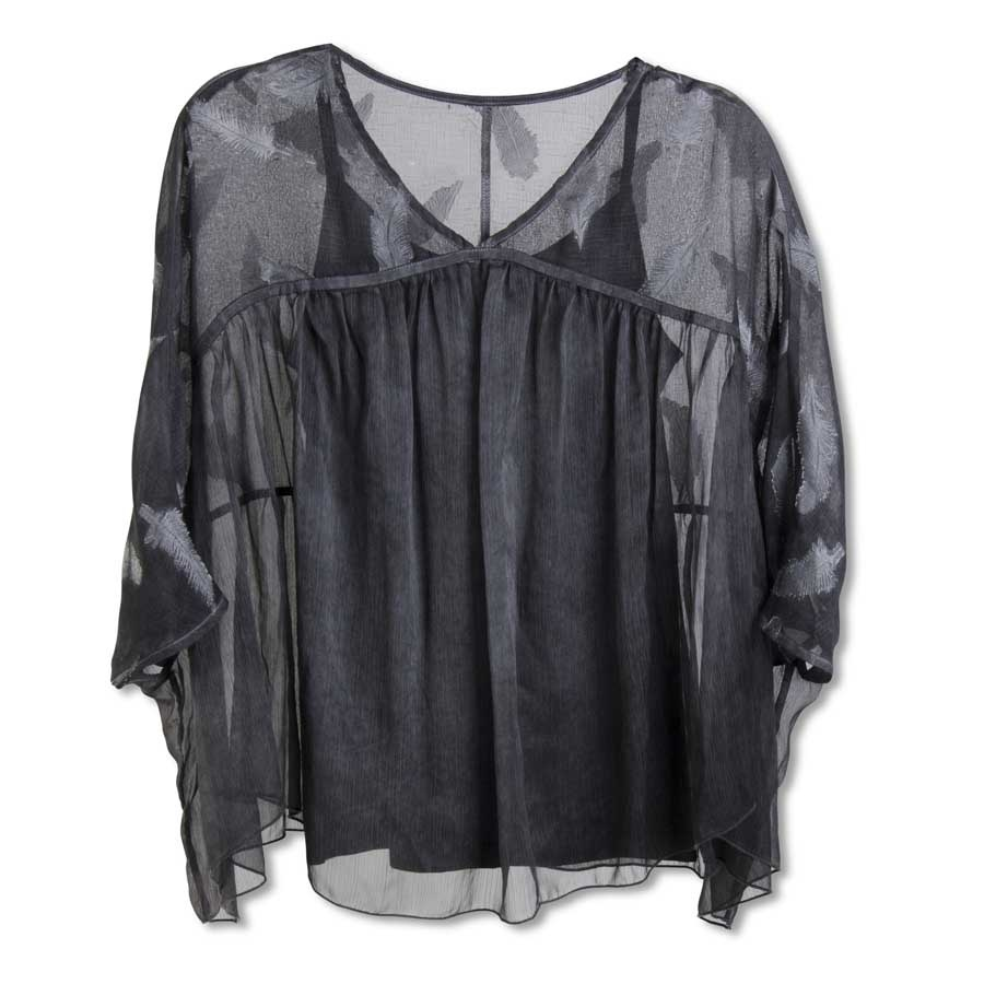 Charcoal Top w/ Camisole
