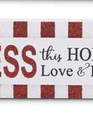 Red and White Striped Message Sign