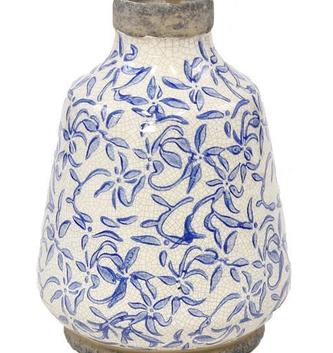 """7.75"""" Damask Crackle Vase"""