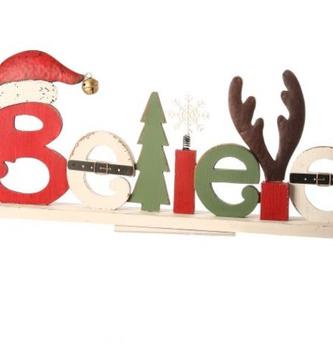 Snowman Believe Tablescape Sign