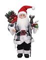 Santa in Black & White Buffalo Plaid Suit