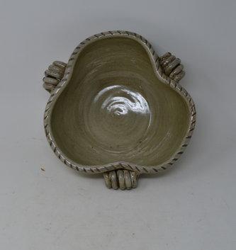 Hand Thrown 3 Handled Bowl