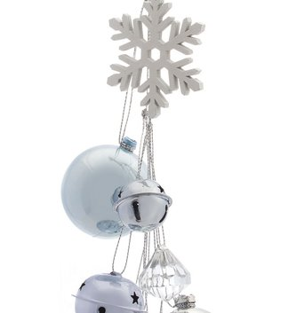 Snowflake Ornament Drop with Bells