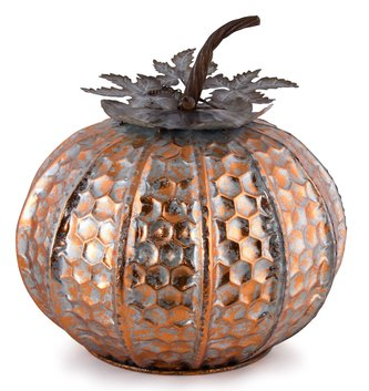 Orangewash Metal Pumpkin