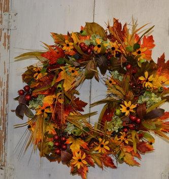 Golden Susan Autumn Wreath Custom